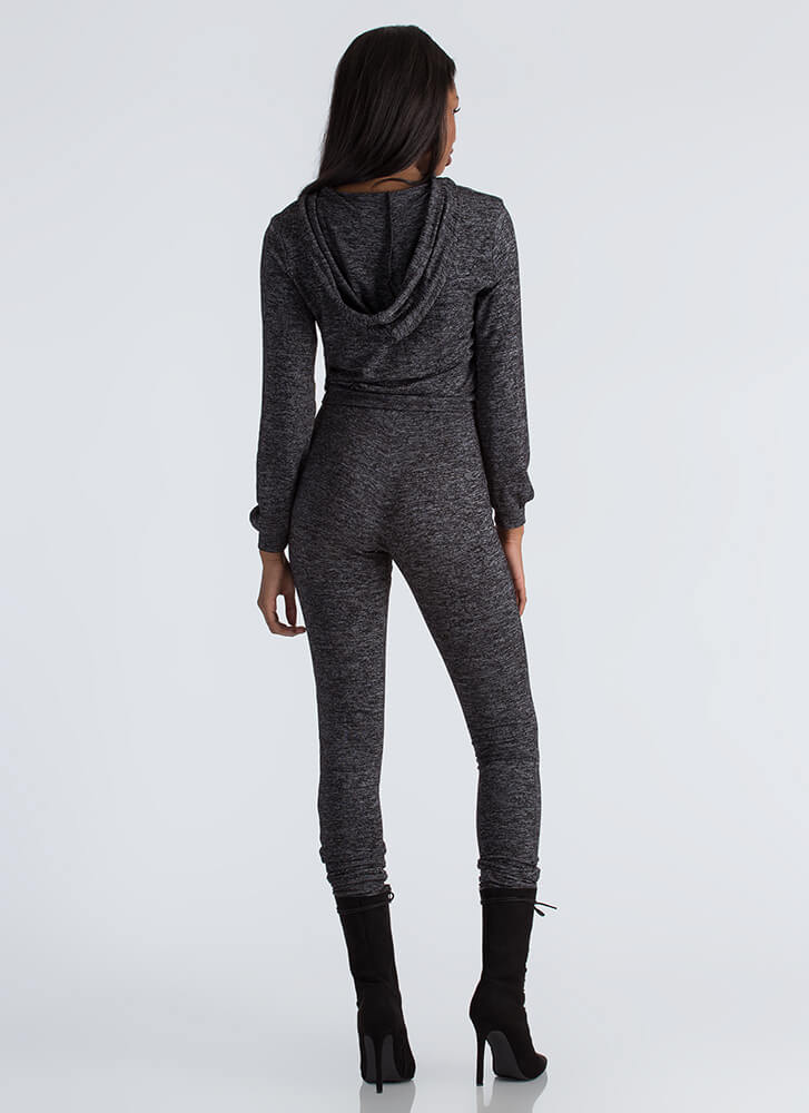 Athleisure Time Hoodie And Jogger Set BLACK