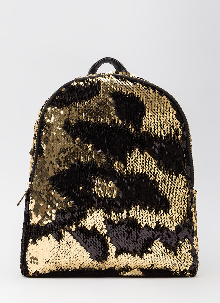 Flipping Amazing Sequined Backpack GOLD (You Saved $32)