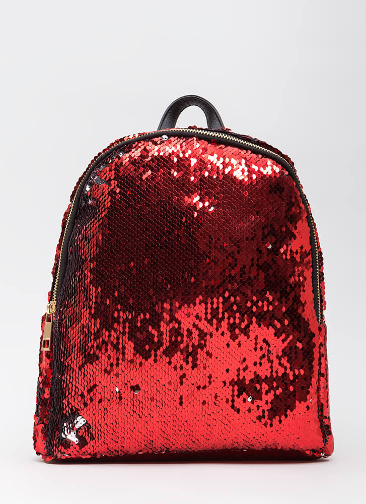 Flipping Amazing Sequined Backpack RED (You Saved $32)