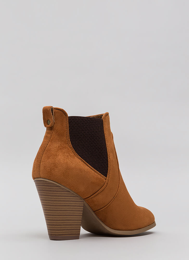 Country Girl In The City Chunky Booties WHISKY