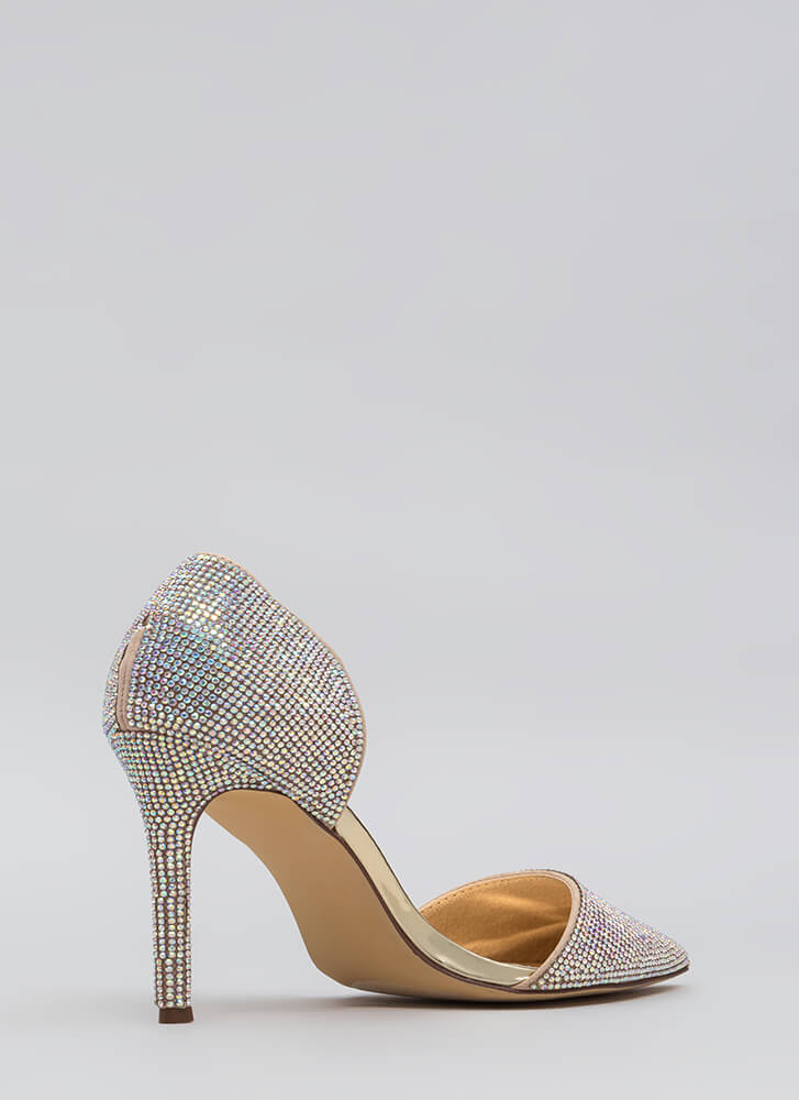 Walking Gems Iridescent Jeweled Heels MULTI