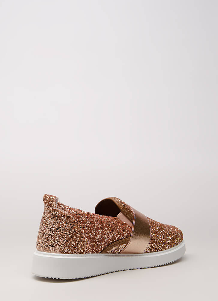 Maximum Sparkle Glittery Sneakers ROSEGOLD (You Saved $20)