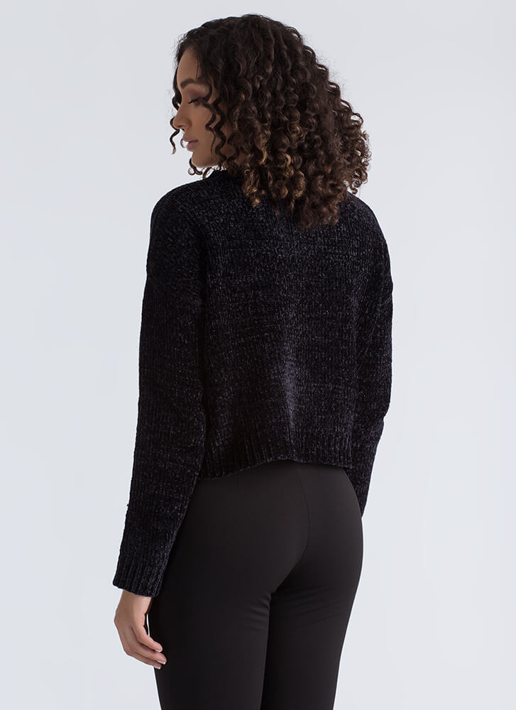 You've Got A Soft Spot Knit Sweater BLACK
