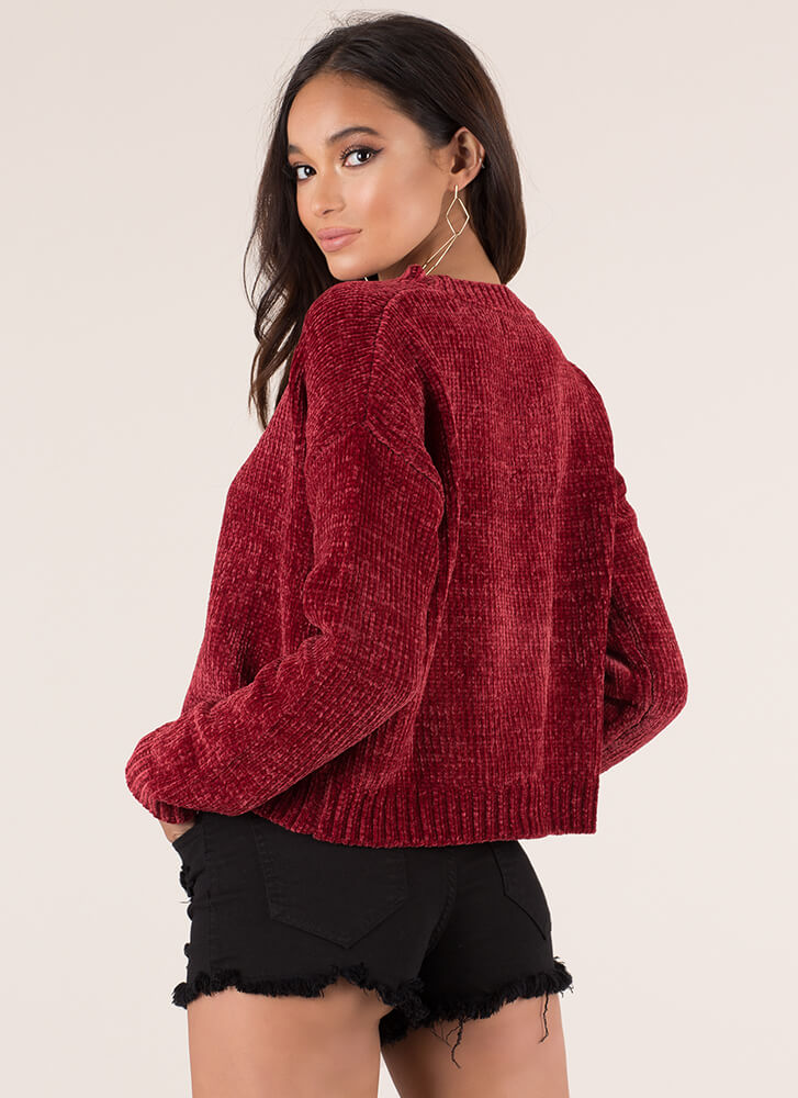 You've Got A Soft Spot Knit Sweater RED