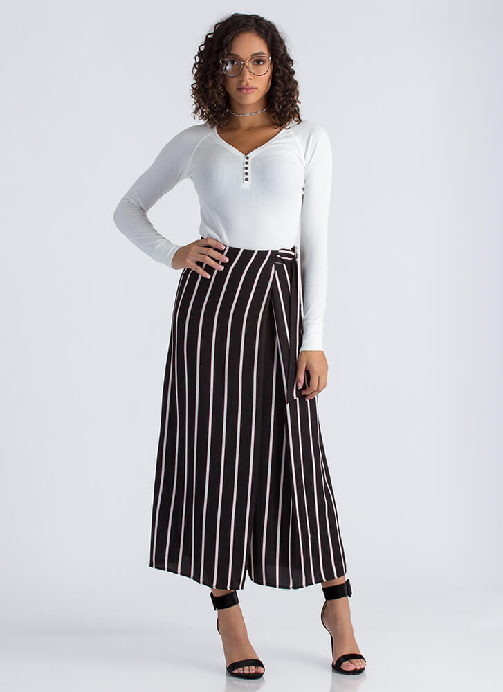 Skirt The Issue Striped Palazzo Pants BLACKBURG (Final Sale)