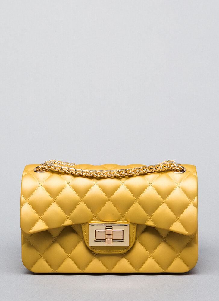 Small Talk Quilted Pvc Mini Bag by Go Jane