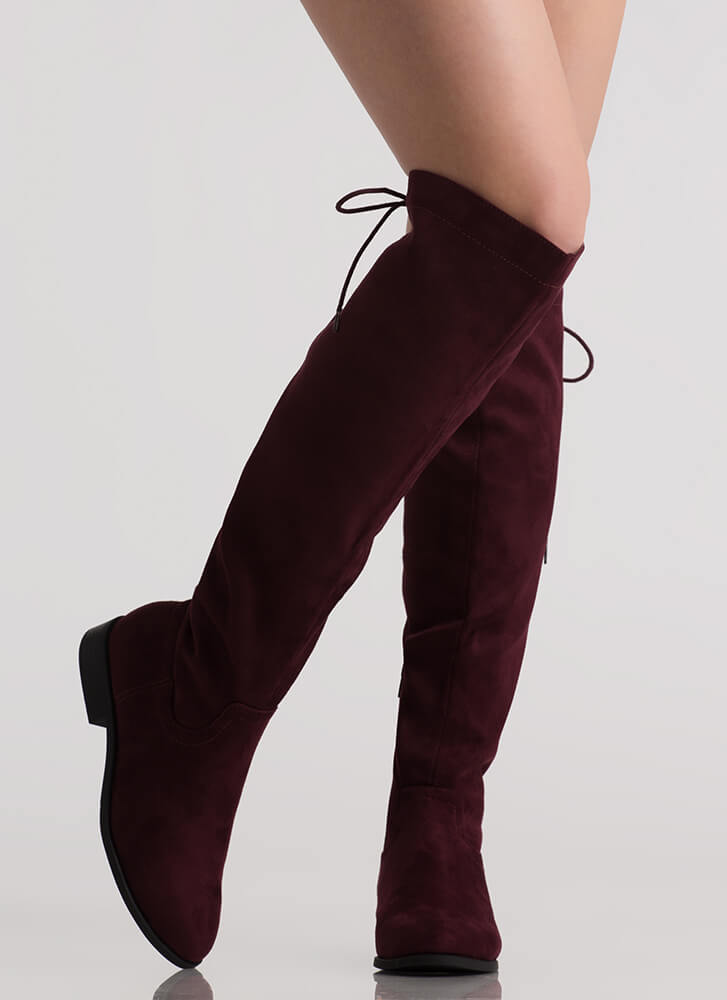 The Chase Lace-Back Riding Boots VINO