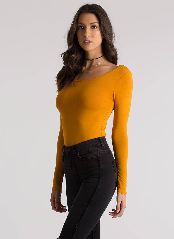 Strappy To Be Here Caged Back Top MUSTARD