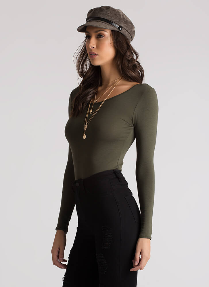 Strappy To Be Here Caged Back Top OLIVE