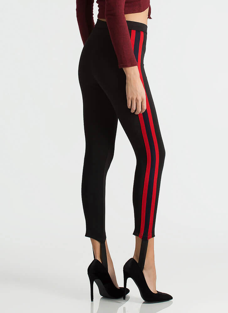 Stirrup Some Feelings Striped Pants BLACKRED