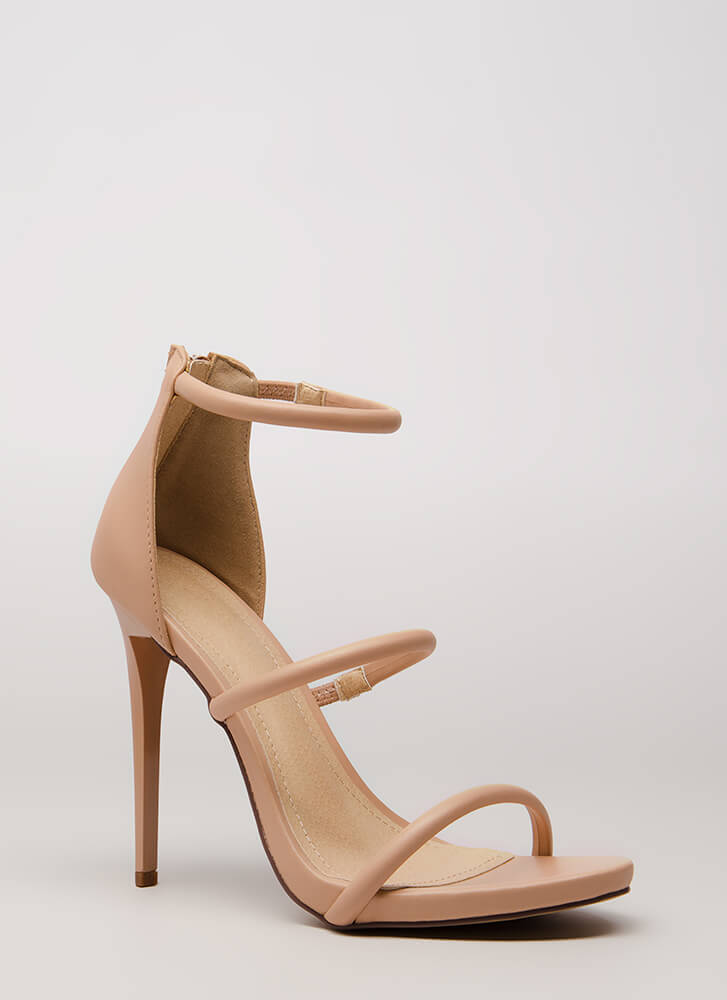 The Right Angle Skinny Strap Heels NUDE