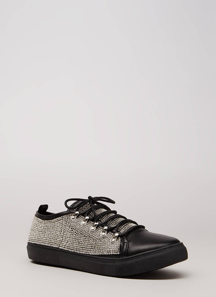 So Much Sparkle Rhinestone Sneakers BLACK