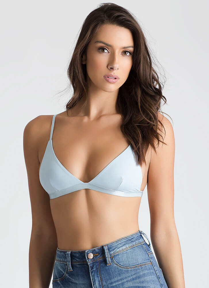 Peeking Inside Triangle Bralette LTBLUE