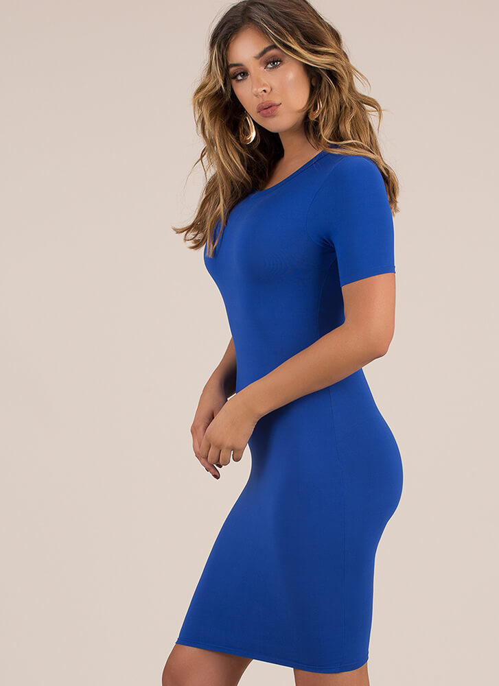 This Is Essential Short-Sleeved Dress ROYAL