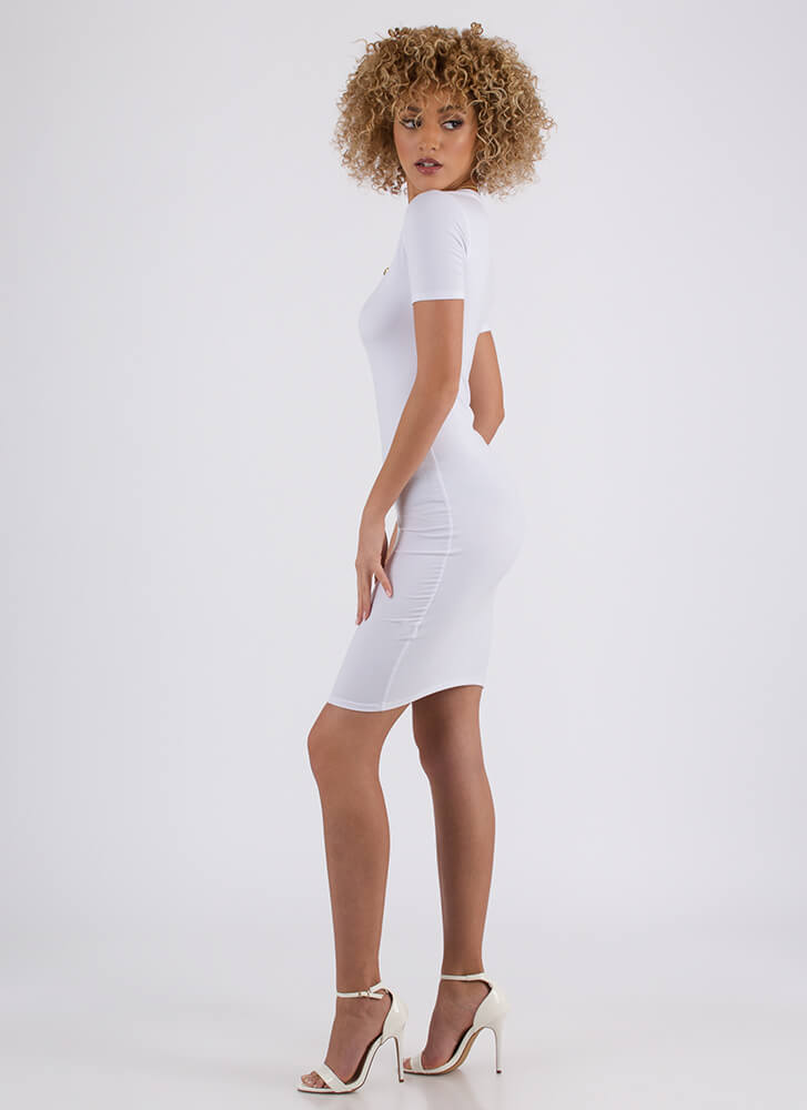 This Is Essential Short-Sleeved Dress WHITE