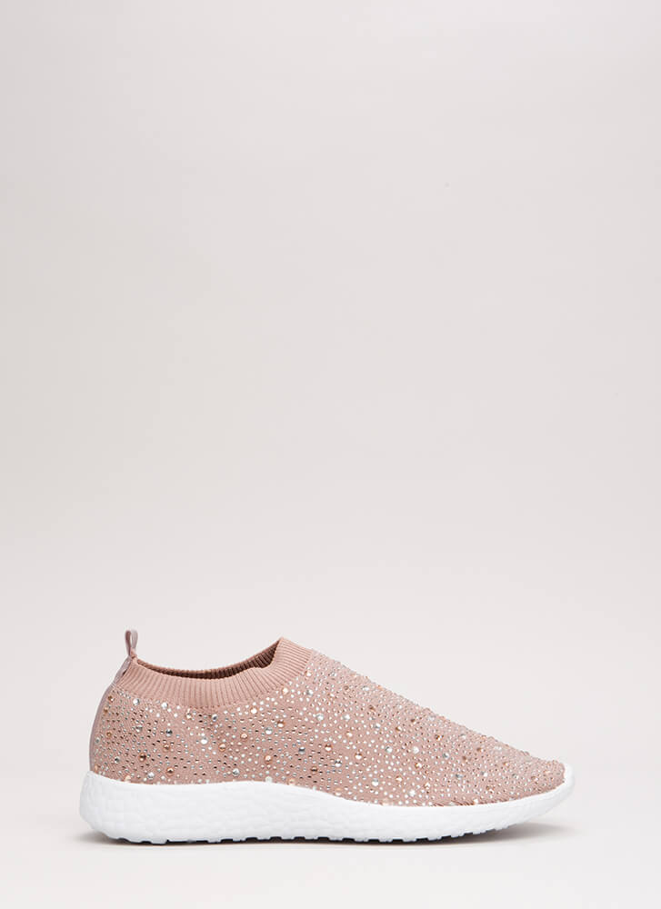 Twinkle Toes Knit Slip-On Sneakers MAUVE