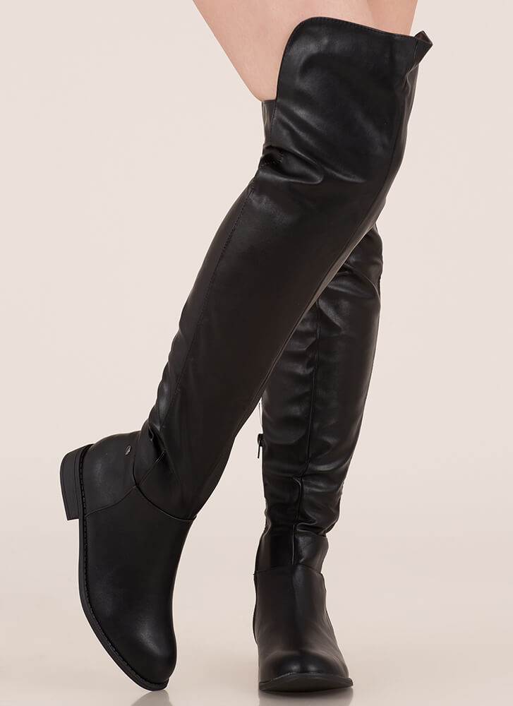 My Highs And Lows Thigh-High Boots BLACK