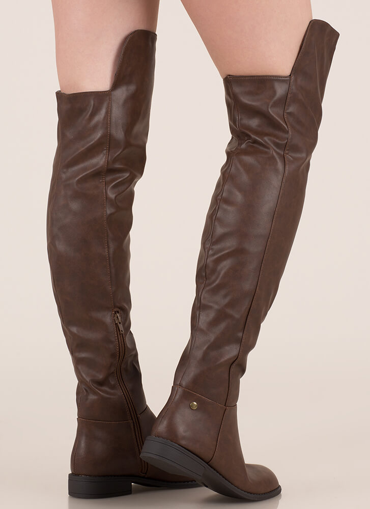 My Highs And Lows Thigh-High Boots BROWN