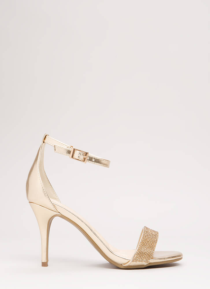 Show Me The Sparkle Metallic Heels GOLD