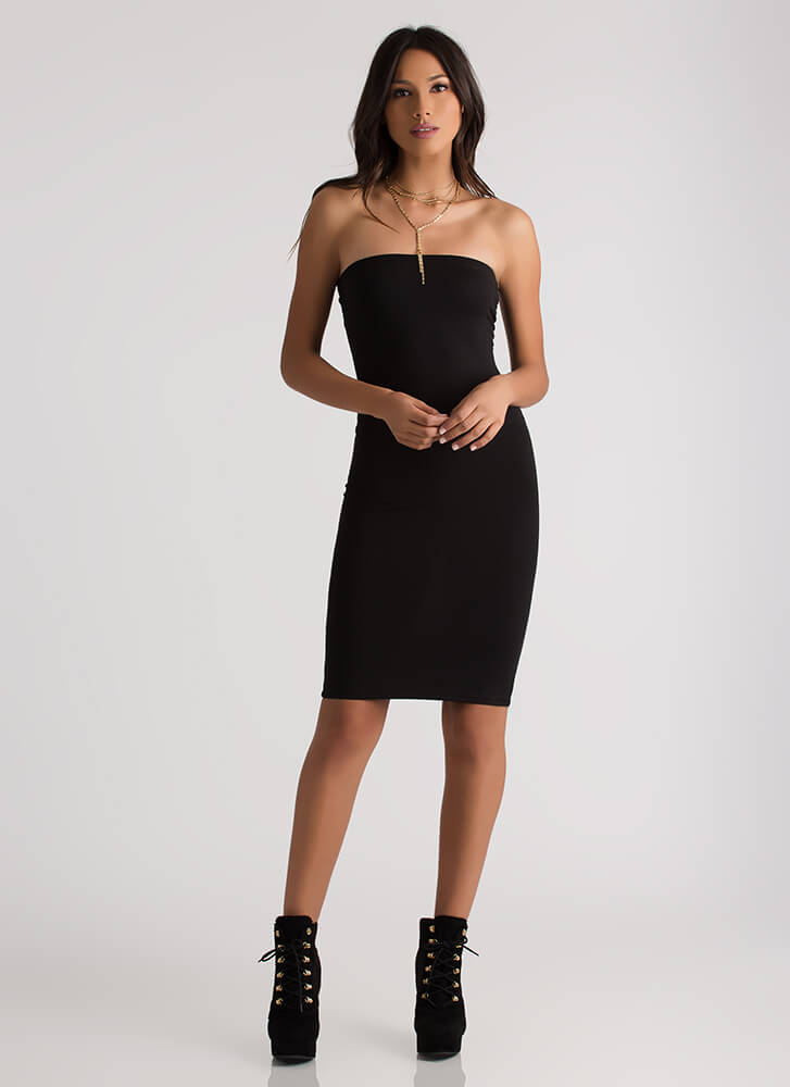 The Simple Things In Life Tube Dress BLACK