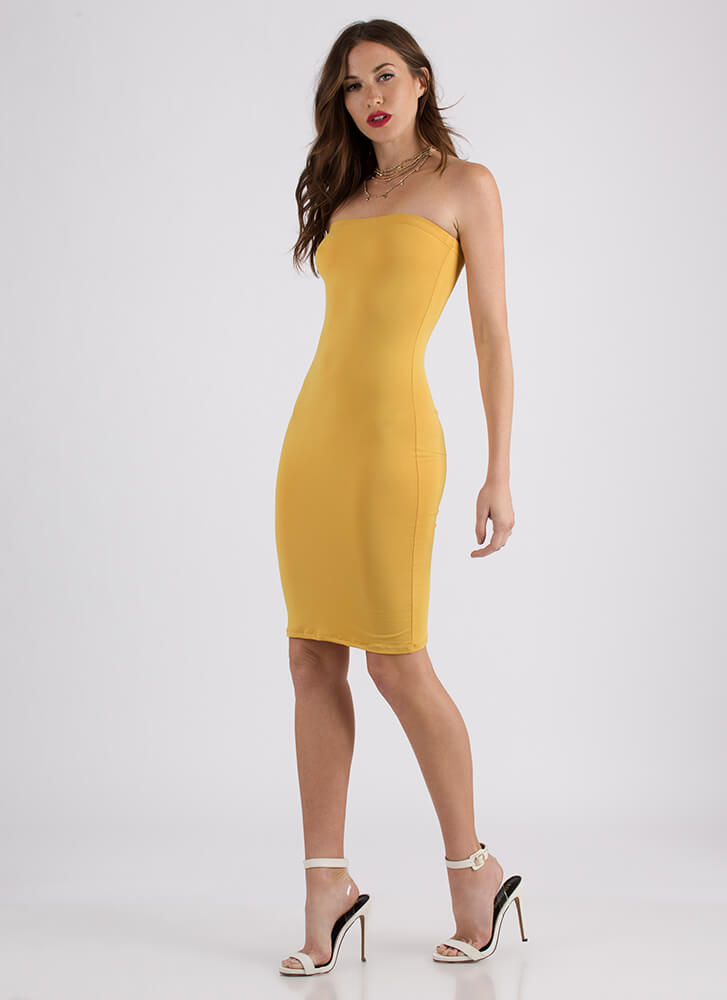 The Simple Things In Life Tube Dress MUSTARD