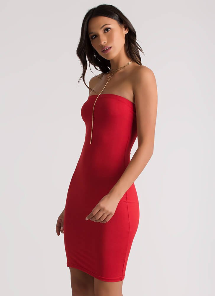 The Simple Things In Life Tube Dress RED