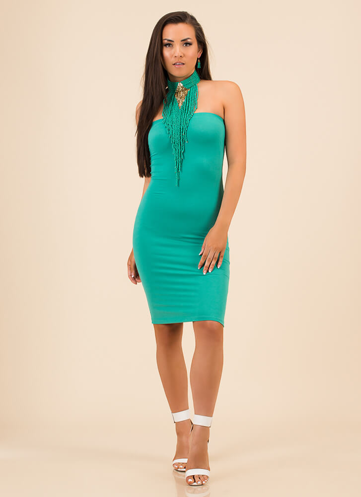 The Simple Things In Life Tube Dress TURQUOISE