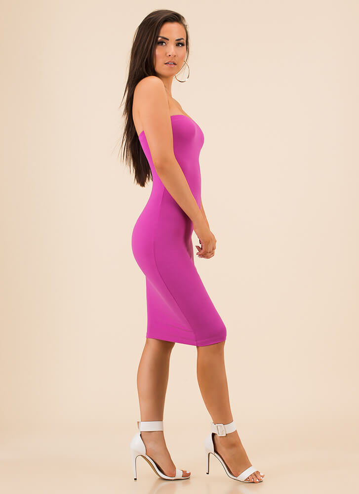The Simple Things In Life Tube Dress ULTRAVIOLET
