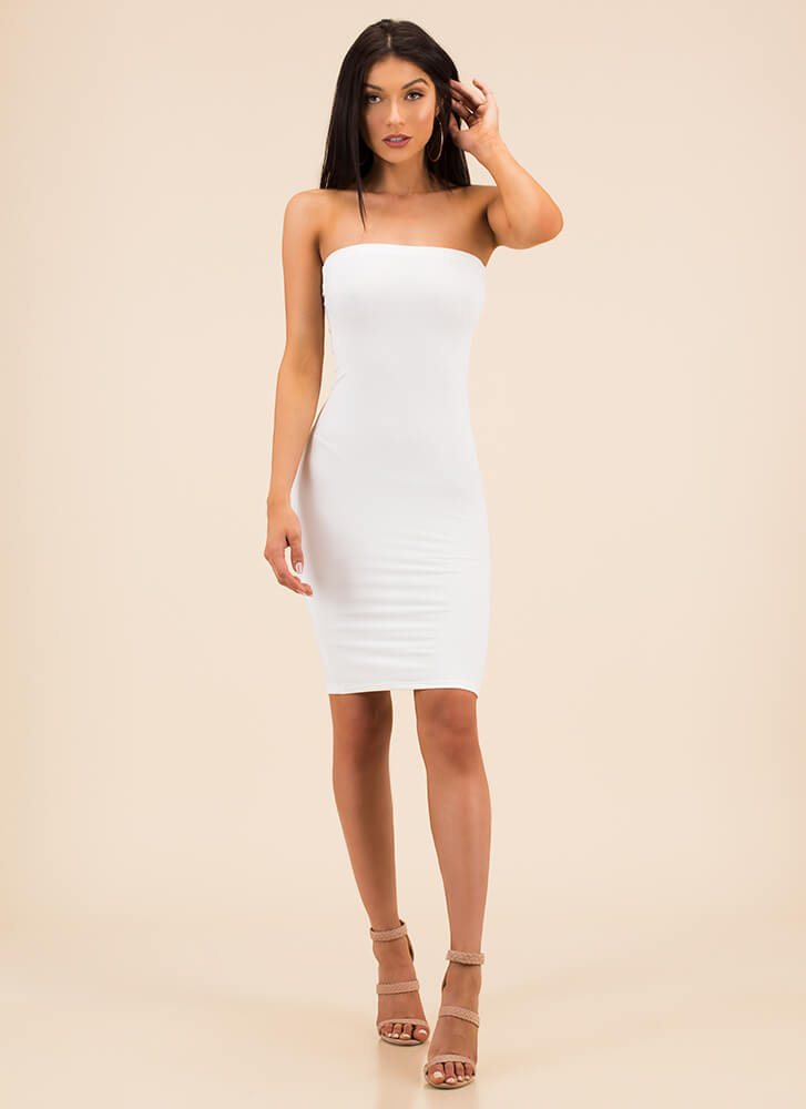 The Simple Things In Life Tube Dress WHITE