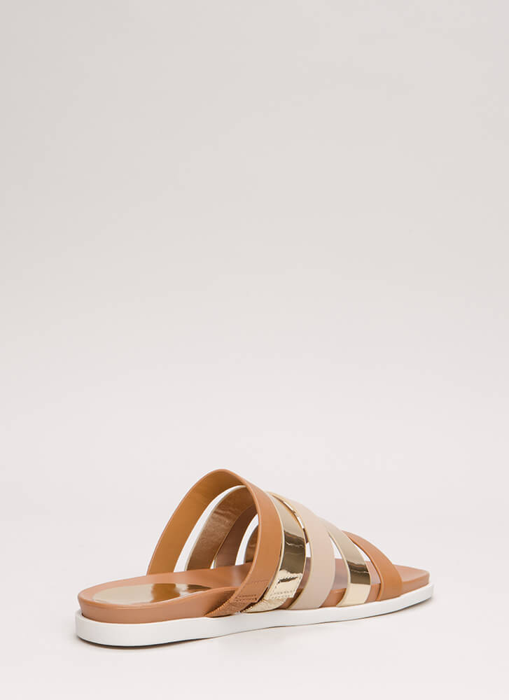 High Five Mixed Media Slide Sandals TANMULTI
