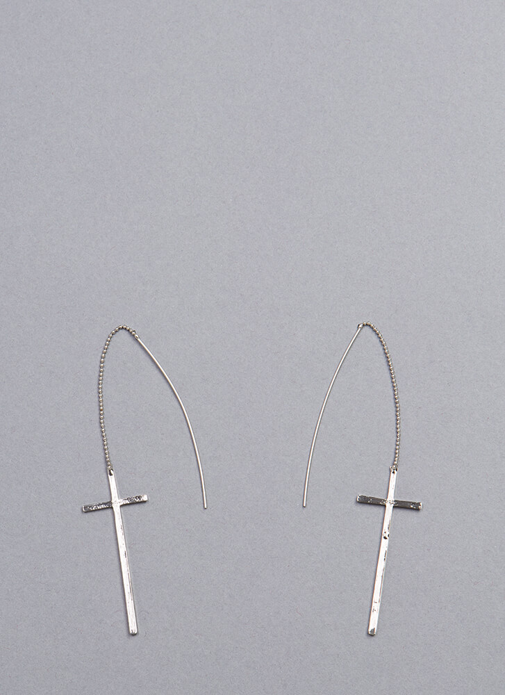 Cross Country Threader Earrings SILVER