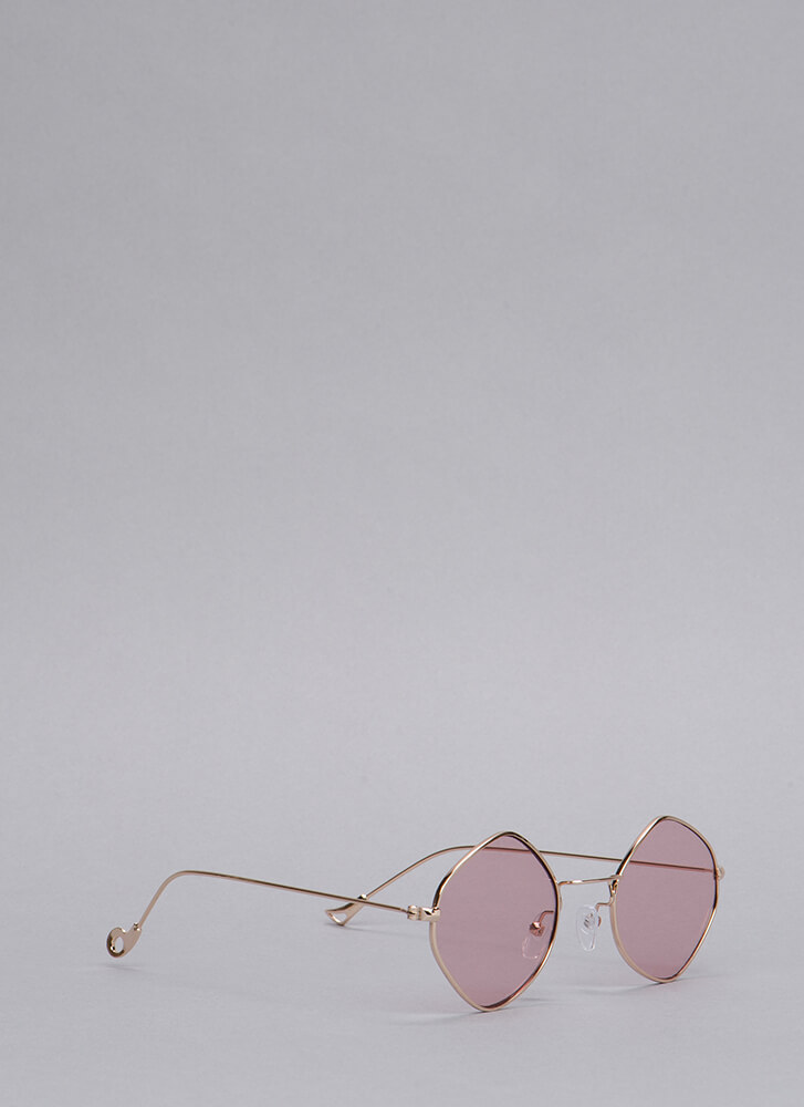 We'll See Wire Rim Sunglasses PINK
