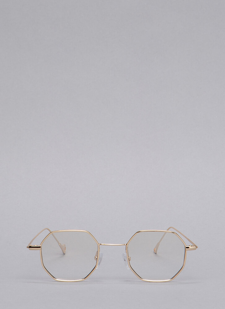 Better Eight Than Never Wire Glasses GOLD
