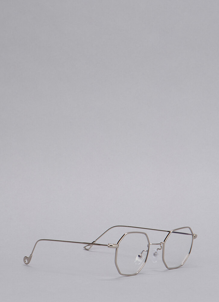 Better Eight Than Never Wire Glasses SILVER