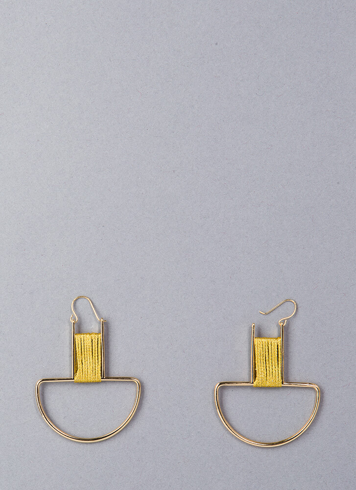New Threads Wrapped Cut-Out Earrings GOLD