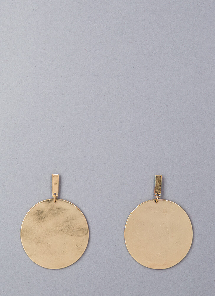 All Shapes Oversized Disc Earrings GOLD
