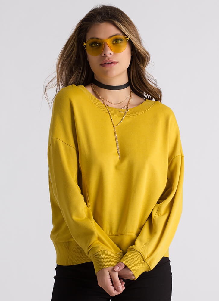 Back In Circulation Cut-Out Sweatshirt MUSTARD