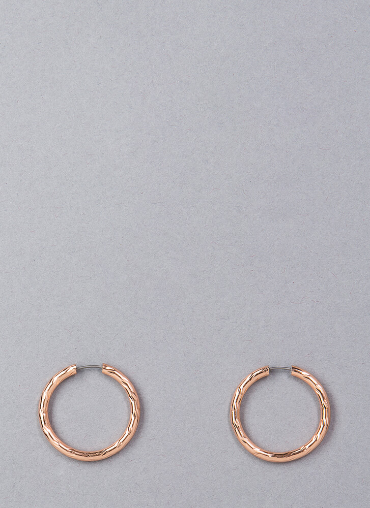 Always Round Up Hoop Earrings ROSEGOLD