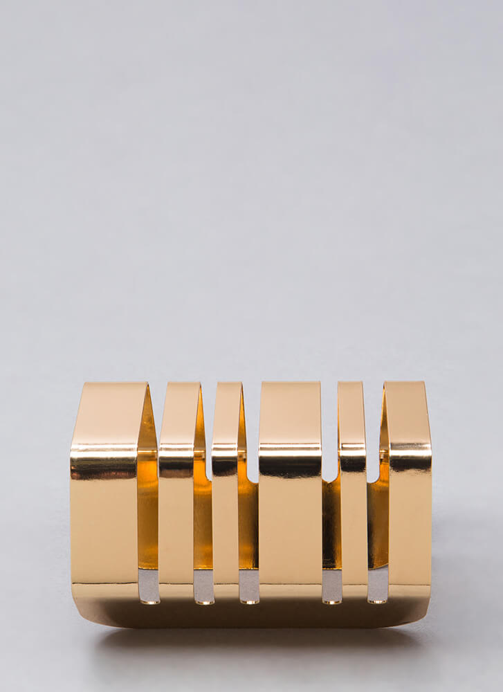 Join The Bands Cut-Out Cuff Bracelet GOLD
