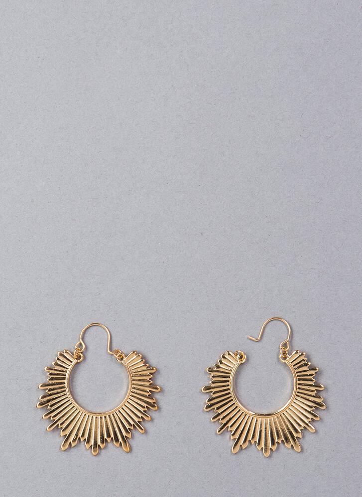 You Are My Sunshine Hoop Earrings GOLD