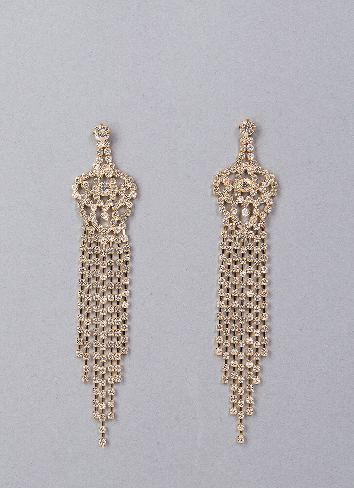 Crown Jewels Chandelier Earrings GOLD