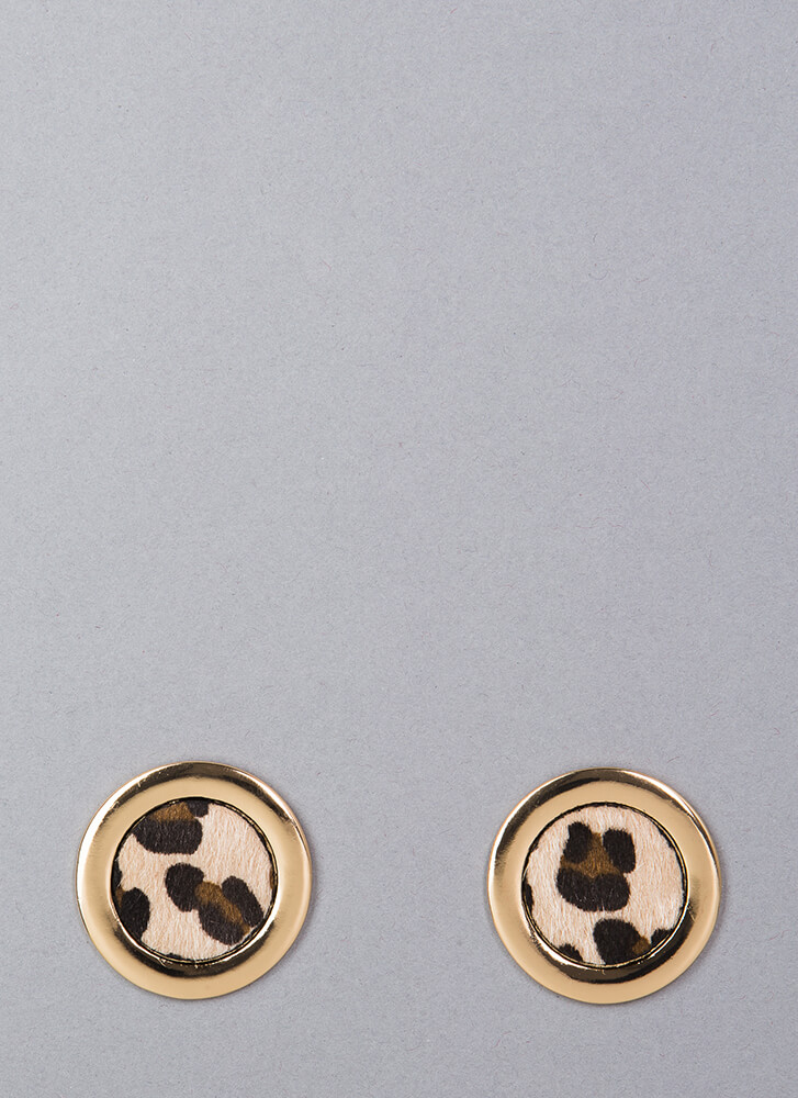 Ring Of Fire Leopard Print Earrings LEOPARD