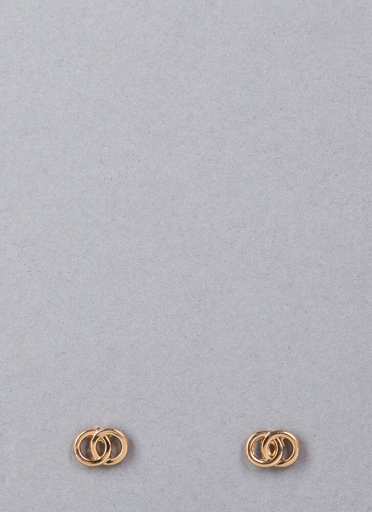 Forever Linked Rings Cut-Out Earrings GOLD (Final Sale)