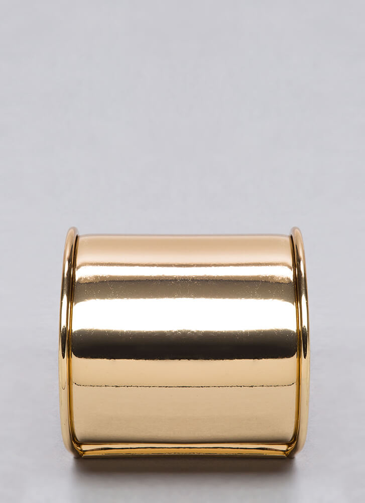 Over The Edge Trimmed Cuff GOLD