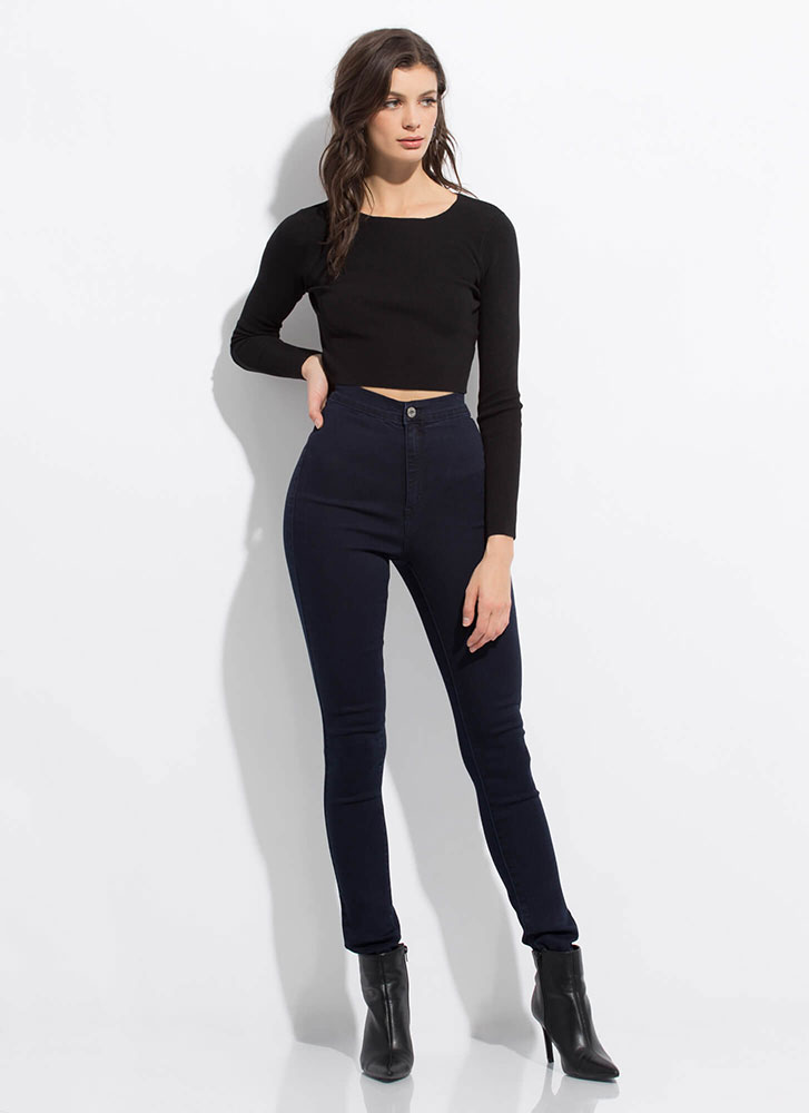 All Curves High-Waisted Skinny Jeans DKBLUE