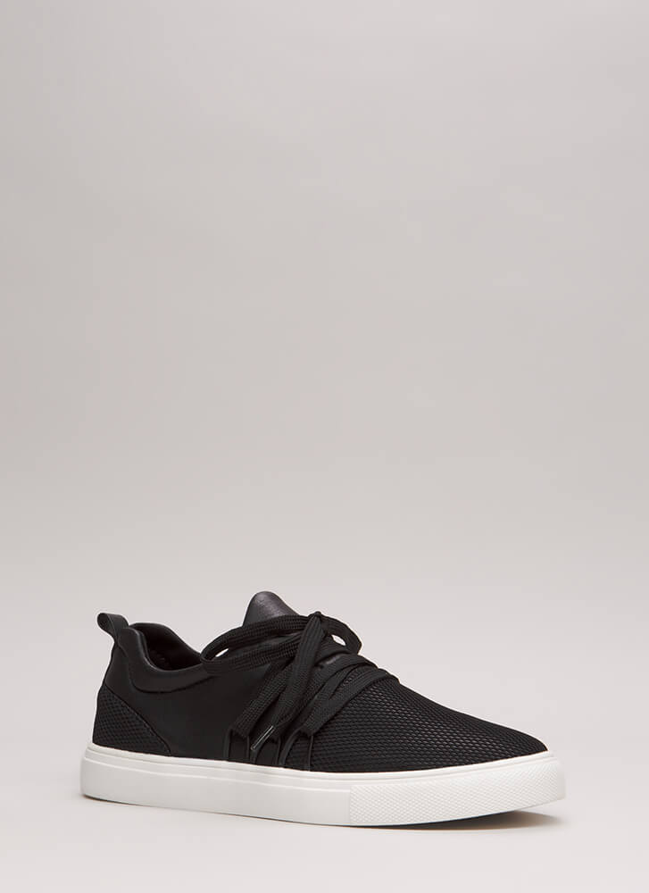 Caught In The Net Platform Sneakers BLACK