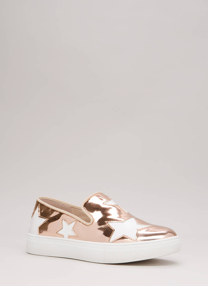 A Star Is Born Slip-On Platform Sneakers ROSEGOLD