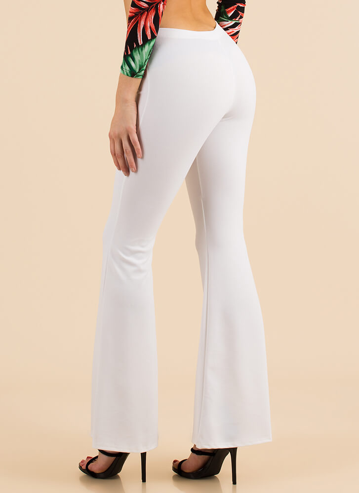 Bring Me Back Pleated Bell-Bottom Pants WHITE