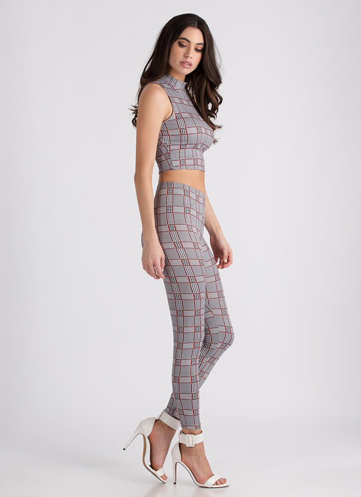 Checker This Out Top And Legging Set BLACKRUST