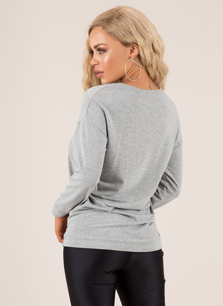 Every Day We're Bustling Sweatshirt HGREY